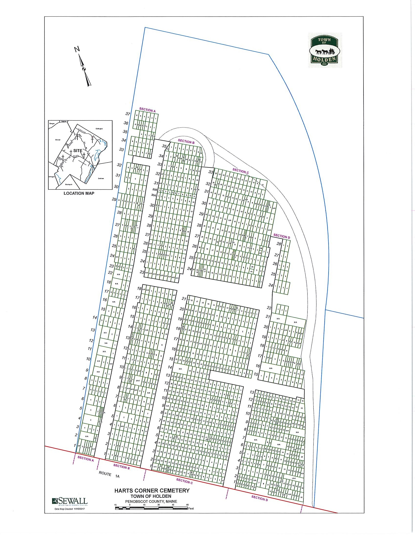 Cemetery Maps - Town of Holden, ME on